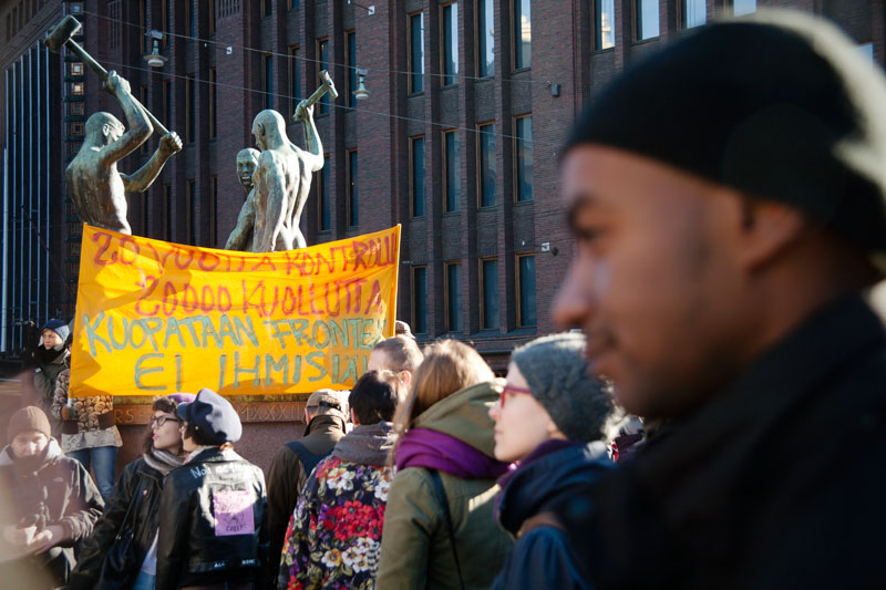 Frontex Demonstratio at Helsinki